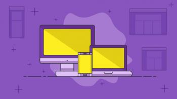 illustration pour Site adaptatif et mobile