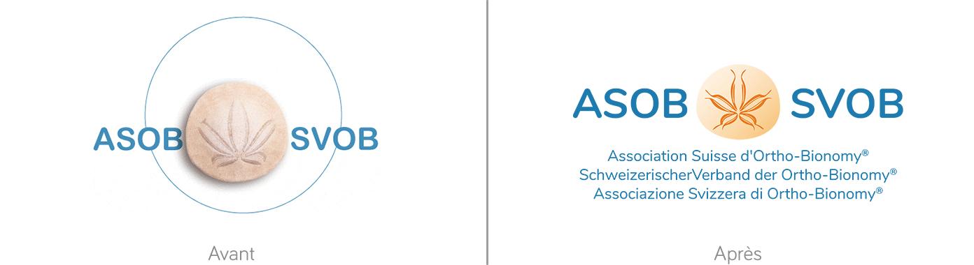 Logo de l'association avant / après