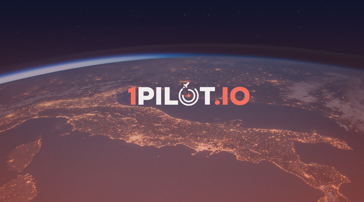 Logo 1pilot.io appliqué sur la terre