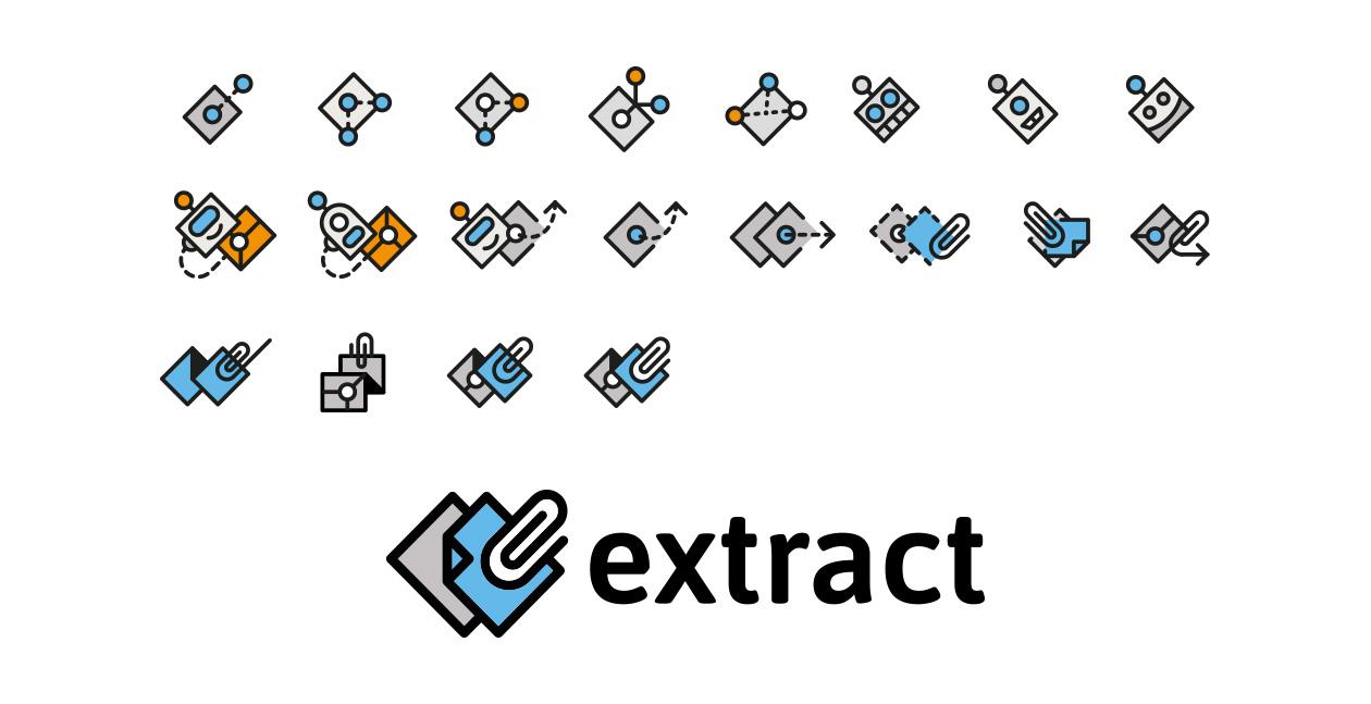 Recherches visuelles de pictogrammes et logo final extract