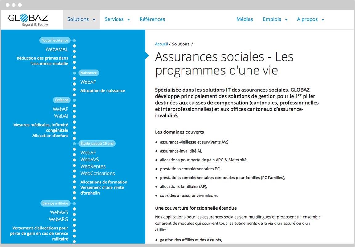 Page des assurances sociales