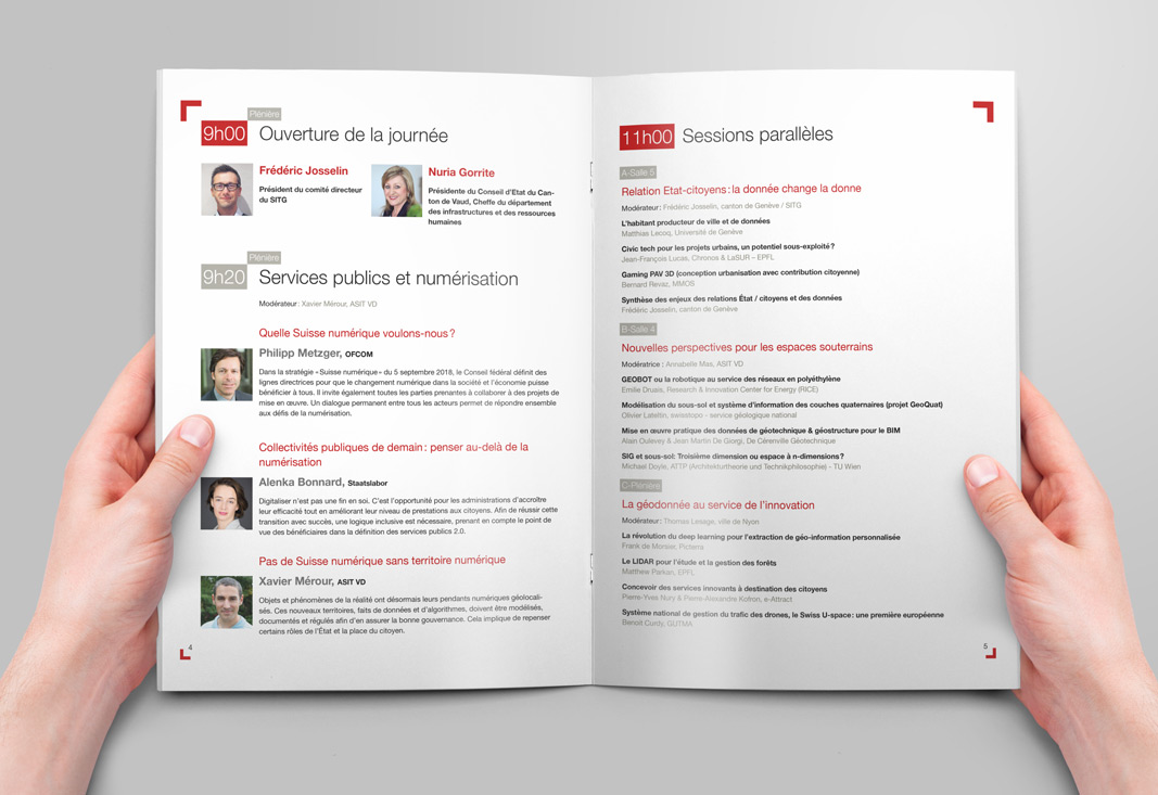 Double page 4 et 5 du programme au format A4