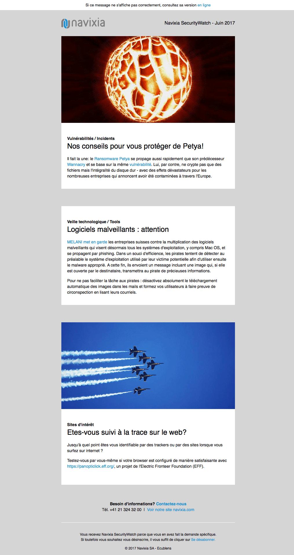 Newsletter Navixia de Juin 2017