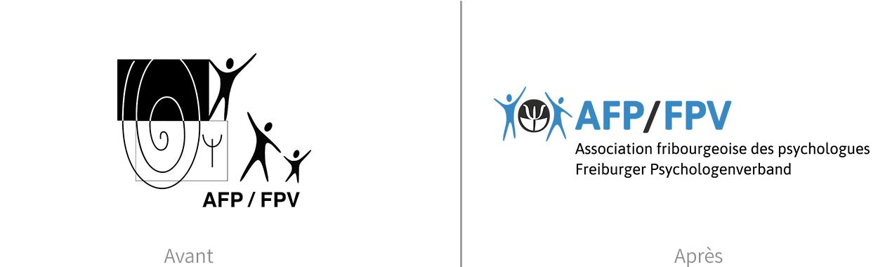 Logo de l'association, avant et après