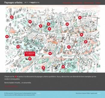 Application web pour les paysages urbains d'equiterre