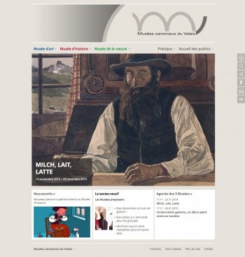 Relookage simple pour les Musées cantonaux du Valais