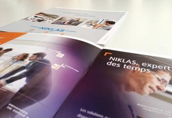 Niklas, création graphique d'une brochure de présentation
