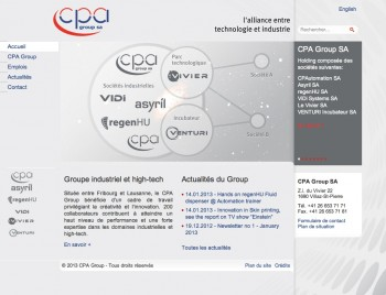 CPA Group, 5 sites industriels
