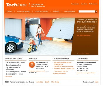 Techinter, du portail à la porte de garage