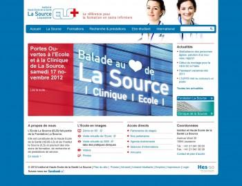 L'Ecole La Source opère son site