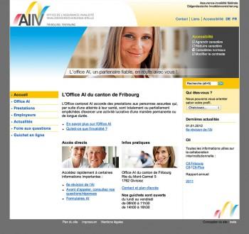 L'office AI du canton de Fribourg, un site accessible