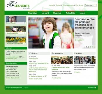 Les Verts genevois, relookage du site