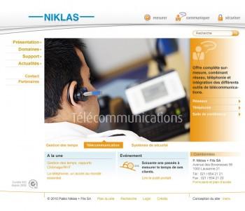 Niklas, nouvel communication et nouveau site internet