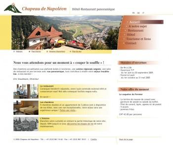 Chapeau de Napoléon, hôtel-restaurant avec vue