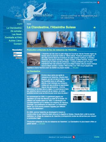 laclandestine.com, une absinthe suisse aux States