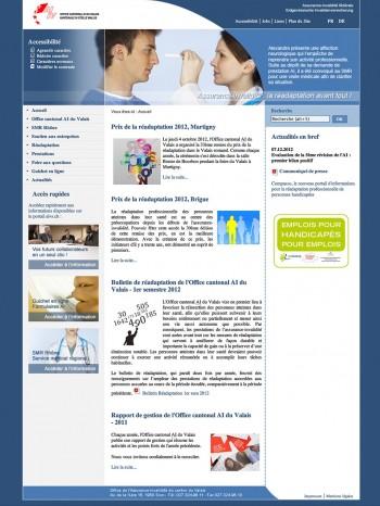 L'office AI du canton du Valais, un site accessible