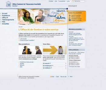 On parle du site de l'AI de Genève sur la RSR