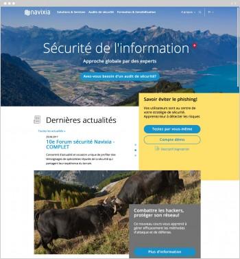 Navixia, un site internet sous OctoberCMS, pour parler de sécurité de l'information