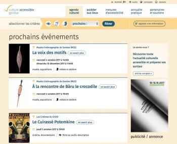 Nouveau challenge technique : un site internet accessible aux publics en situation de handicap à Genève