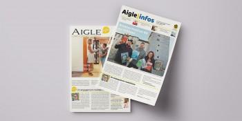 Nouvelle mise en page pour le journal communal «Aigle infos»