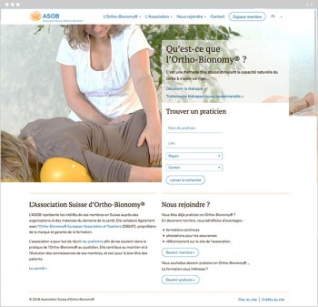 Refonte du site web de l'association suisse d'Ortho-Bionomy®