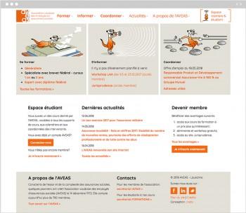 L'AVEAS renouvelle son site web associatif avec une zone membre sur mesure