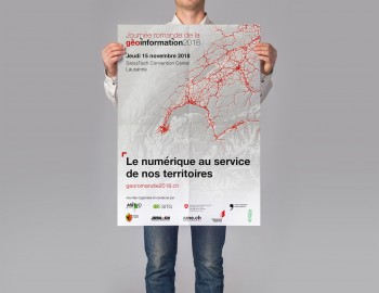 Affiche pour la journée de la géoinformation romande