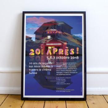Création de l'affiche événement du cinéma Royal de Sainte-Croix