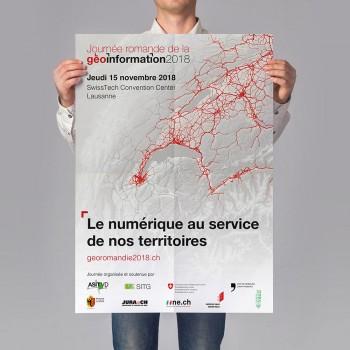 Communication globale pour la première édition de la Journée Romande de la Géoinformation