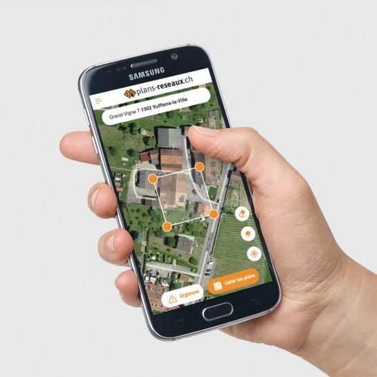Création de l'interface de l'app web plans-reseaux.ch