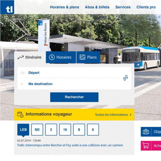 Les transports lausannois (TL) confie la refonte de sa page d'accueil à inetis