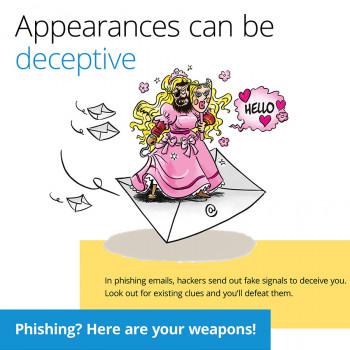 Création d'affiches de sensibilisation à la sécurité informatique pour Navixia