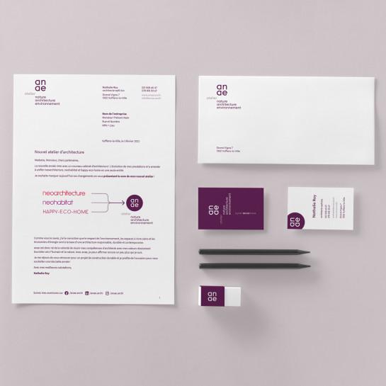 Logo et papeterie pour un atelier d'architecture